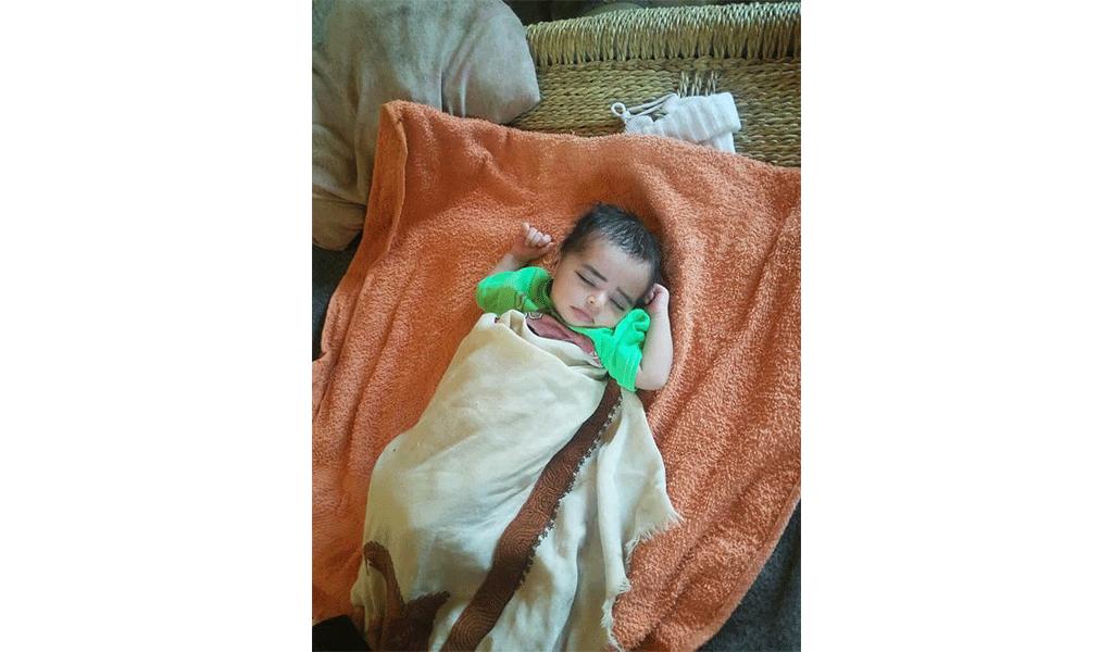Hayat's new born baby Yemen