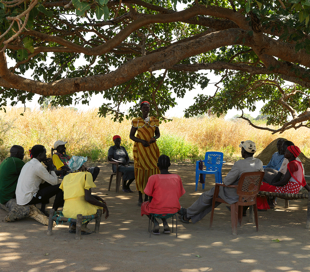 Nyanut is the chairperson of the water committee at Baackuel Village, Malualkon, South Sudan.