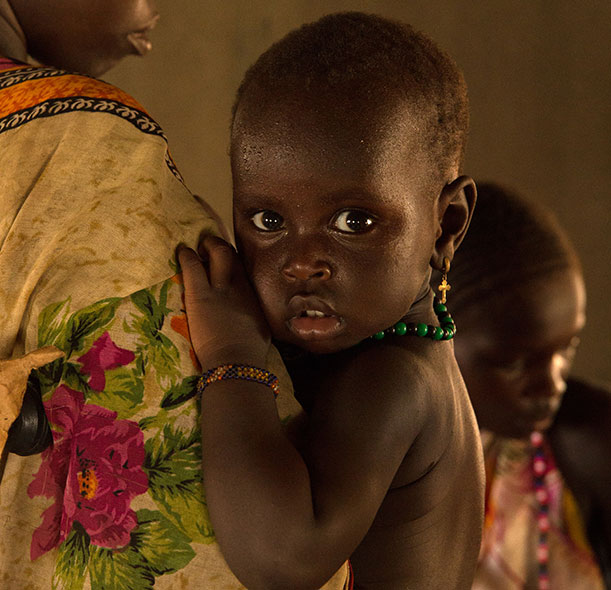 Nine-month-old Nyabuk from South Sudan.