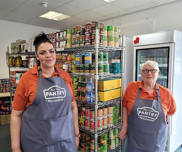 Staff members at Brasshouse Community Centre, Smethwick, West Midlands.