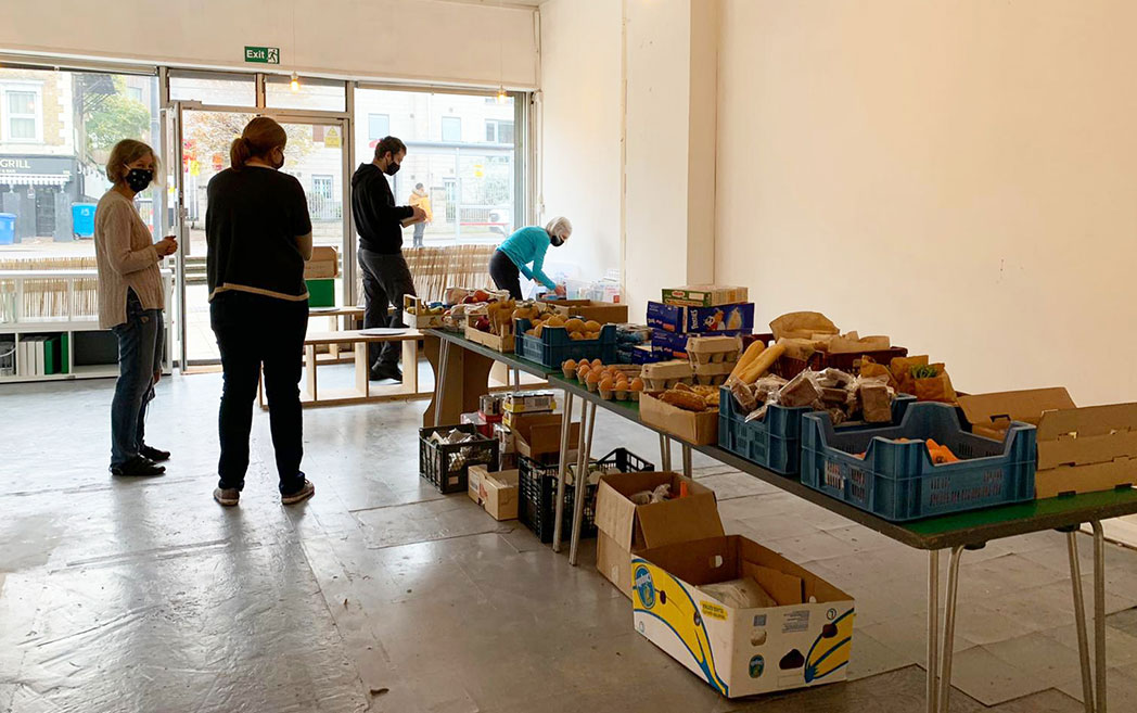The Feed the Hill community food store run by Lewisham Homes.