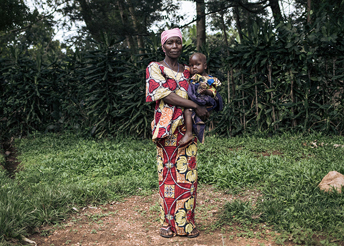 Georgine with her 27-month-old son, David who was treated at an Action Against Hunger-supported health centre for severe acute malnutrition in DRC.