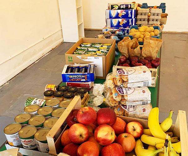 Food provided at a community food store run by Lewisham Homes.