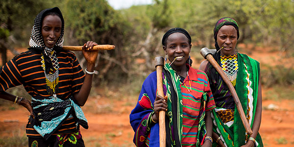 A group of women supported by Action Against Hunger in Ethiopia.