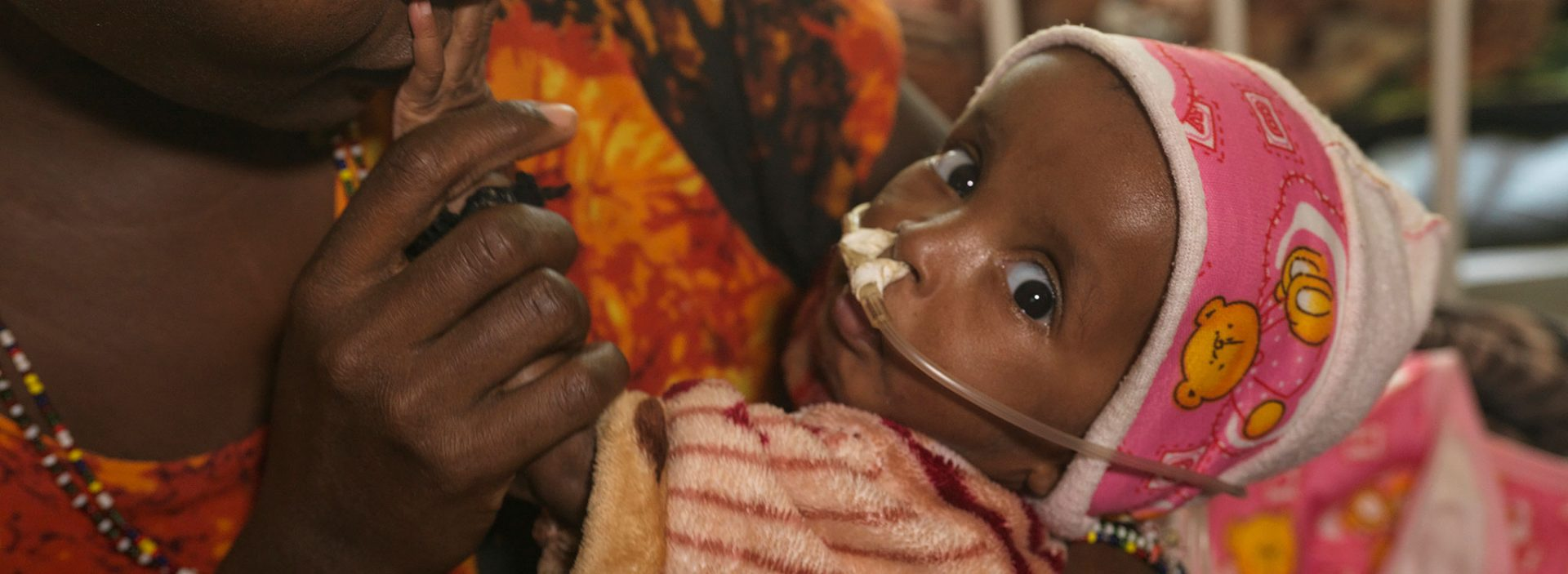 Fardosa receives treatment at an Action Against Hunger nutrition centre in Ethiopia.